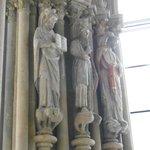 Des statues encore colorées