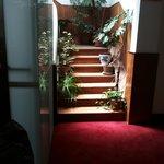 La scala di accesso al famigerato quinto piano