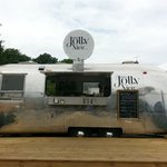 The air Stream caravan - quite eye catching as you drive the A419