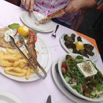 Great dolmades and souvlaki