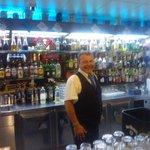 Singing barman