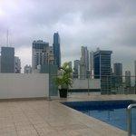 terraza con piscina excelente vista