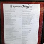 Menu from outside