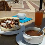 the most amazing fresh kebabs and soup...delicious