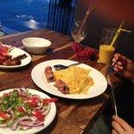 Mixed grill, pilau rice & dessi salad