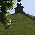 the Lion Hill , built as a memorial to the common soldiers who died.