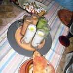 Gaspacho, prawns & patatas bravas