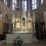 The magnificent carved reredos
