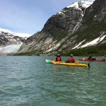 Kayaking to Nigardsbreen