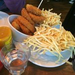 Skinny fries and onion rings