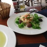 White bean & cod salald