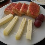 Menorcan cheese & Tomato bread -definately a different dessert