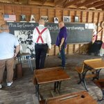 With the guide at the School House