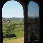 uitzicht vanuit kamer Fornaciaio