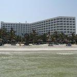 Hôtel depuis la plage