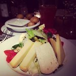 Delicious salad with Swiss cheeses