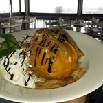 Fried Ice Cream that could feed at least 4 people.
