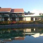Duplex villas surrounding the lake