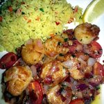 "Scallops ""Provencal"" with rice pilaf"