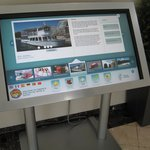 Touch kiosk in the lobby for local information