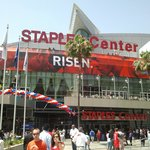 Outside Staples Center