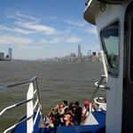 View from the ferry looking toward the Manhattan Skyline