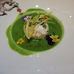 Spring Pea Soup & Crab