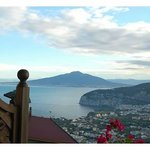 fantastic view of Vesuvius and the Bay of Naples