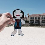 Flat Stanley on vacation at the lodge