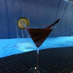Rooftop Martini's at the hot tub/pool