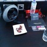 Chocolates and iPod dock