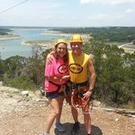 About to zipline over Lake Travis
