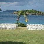 wedding set up, turtle bay point