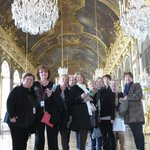 With Tatiana in the Hall of Mirrors at Versailles.