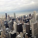view of willis tower - cloudy day
