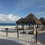 Privileged Rewards Cabanas on beach