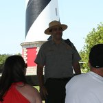 The Park Ranger talking about lighthouse life!