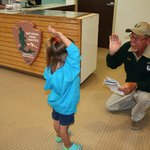 Swearing in a Junior Ranger!