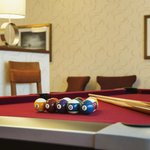 Enjoy time with friends playing pool in the lodge