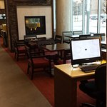 Hotel Lobby Computers Area