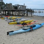 Kayaks awaiting the group based on our sizes...
