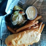 Halibut fish and chips 1 piece