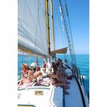 Sailing out to the Sand Key Lighthouse