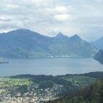 Lucerne from the peak of Pilatus