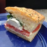 Fresh Mozzarella Sandwich. YUM!