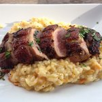 Duck with sweet potato risotto was wonderful.