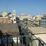 View from the terrace toward Plaza Catalunya