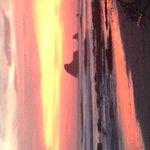 Maderas beach at sunset