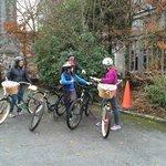 kids biking on grounds