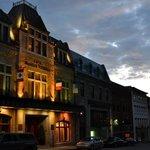 Façade de l'hôtel au coeur du Vieux-Québec
